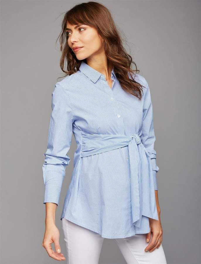 52634d0455beb Isabella Oliver Button Front Maternity Shirt | Maternity Clothes in ...
