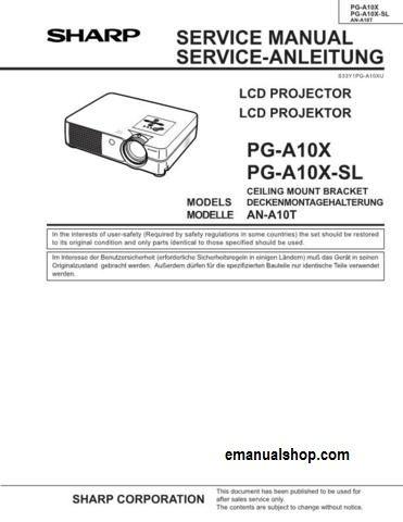 sharp lcd projector pg a10x service manual download service repair rh pinterest com Makers Service Repair Manual Appliance Repair Service Manuals