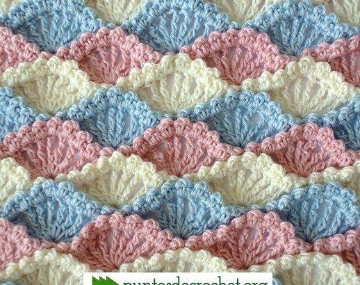 Punto Crochet Conchita | PUNTOS | Pinterest | Puntos, Colchas y Bebe