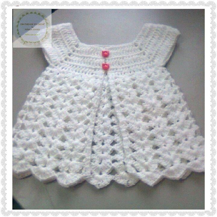 Resultado de imagen para vestido de croche infantil rosa | Vestidos ...