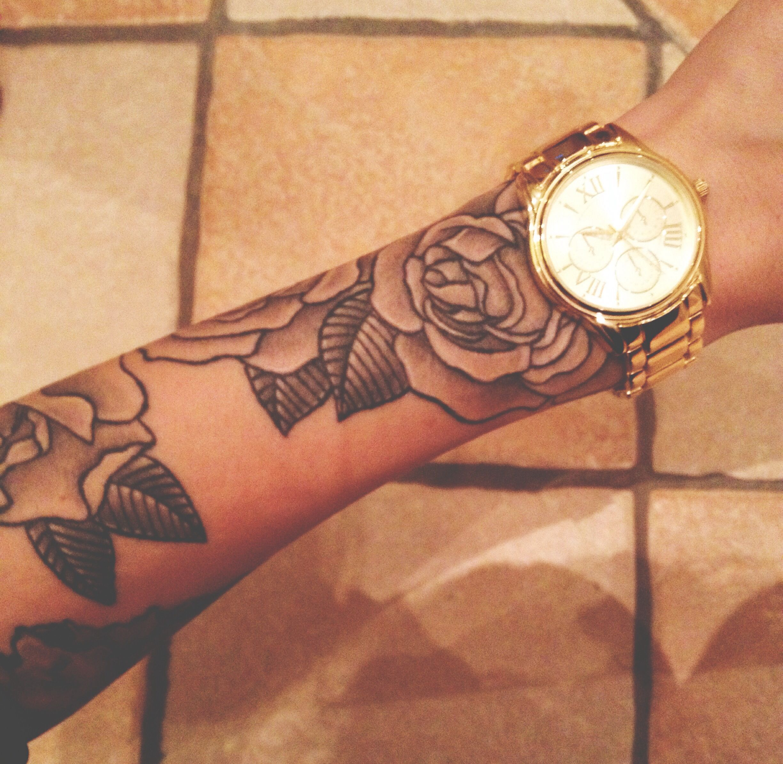 my rose half sleeve tattoo Half sleeve tattoo, Rose