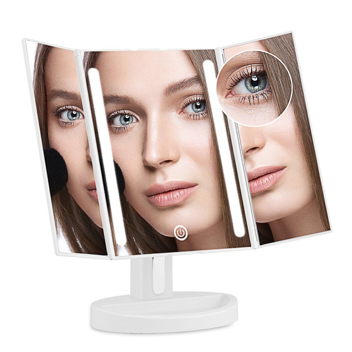 AHYO Lighted Vanity Makeup Mirror with 10x Magnifying Soft
