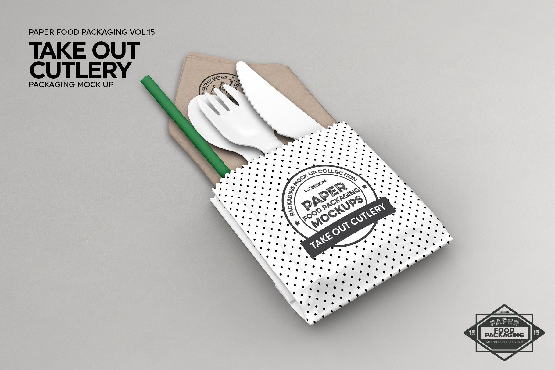 Download Takeout Cutlery Utensil Mockup Free Packaging Mockup Bag Mockup Packaging Mockup