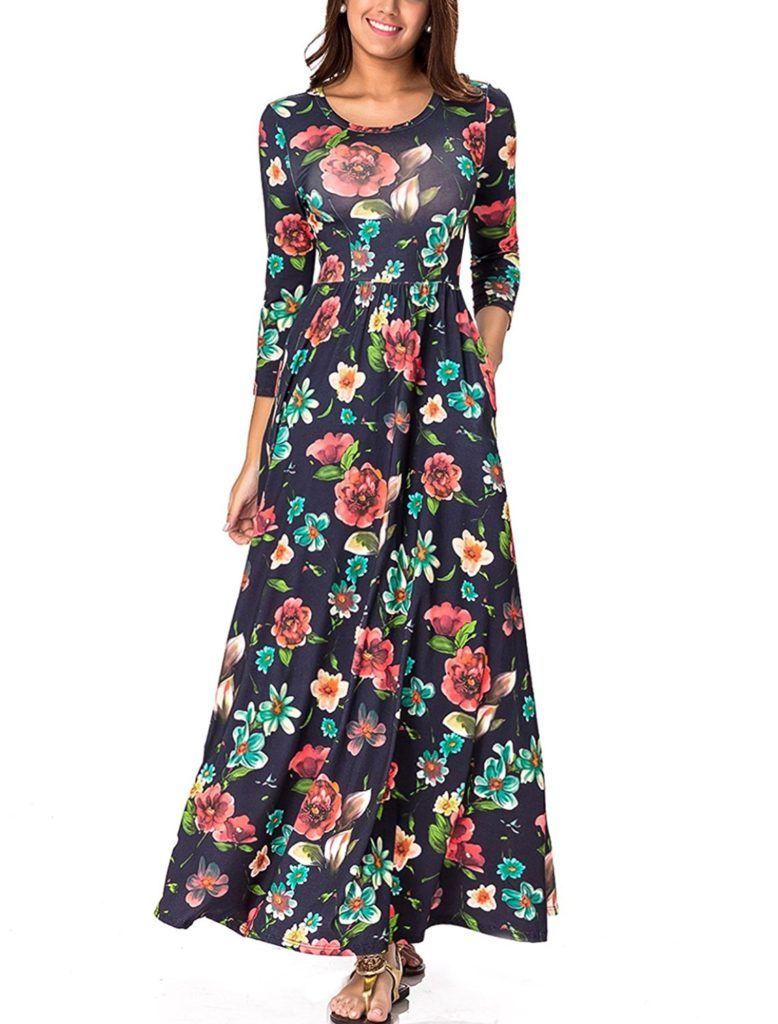 Lasvane womens wrap dress graffiti printed long dress geometric maxi dress