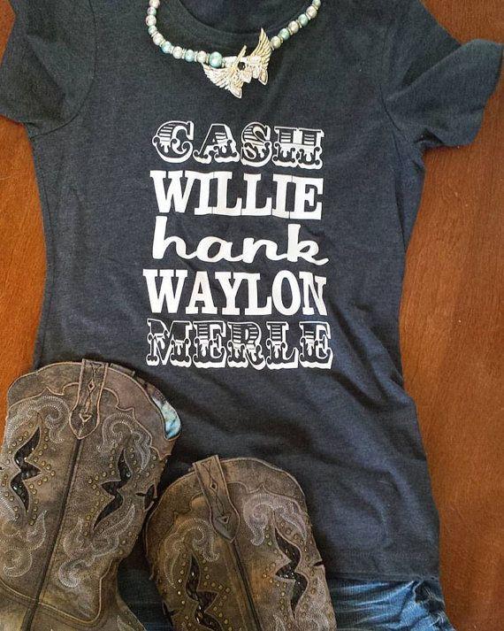 Cash Willie Hank Waylon Merle Womens Country Shirt