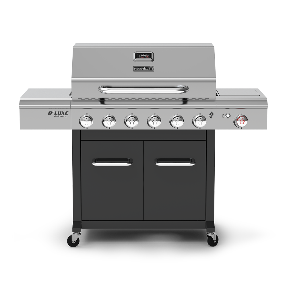 Deluxe 6 Burner Propane Grill With Side Burner Nexgrill Gas Grill Gas And Charcoal Grill Gas Bbq