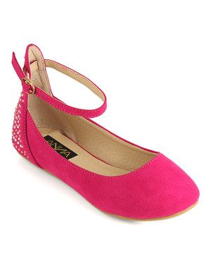 Anna Shoes Fuchsia Vera Ankle Strap Flat by Anna Shoes #zulily #zulilyfinds