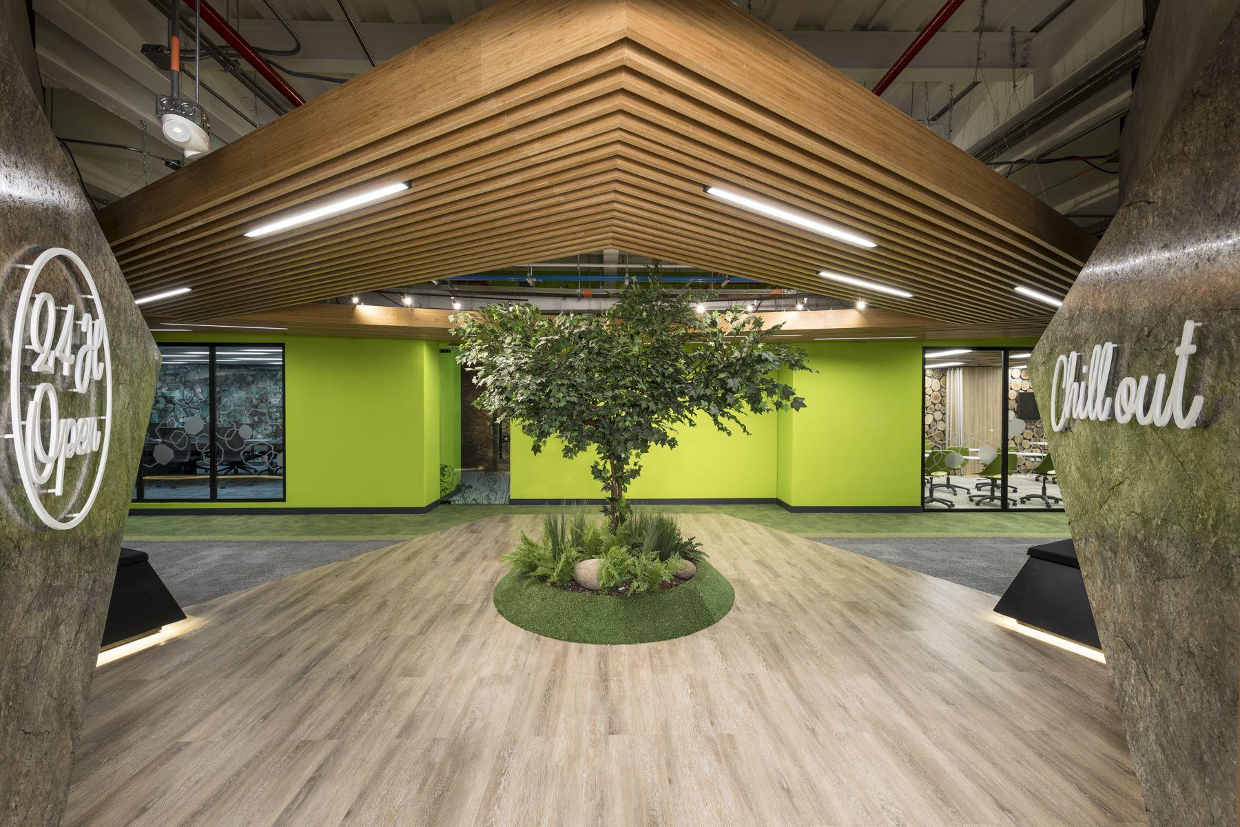 Oficinas de #Globant Diseño y construcción #AEI Arquitectura ...