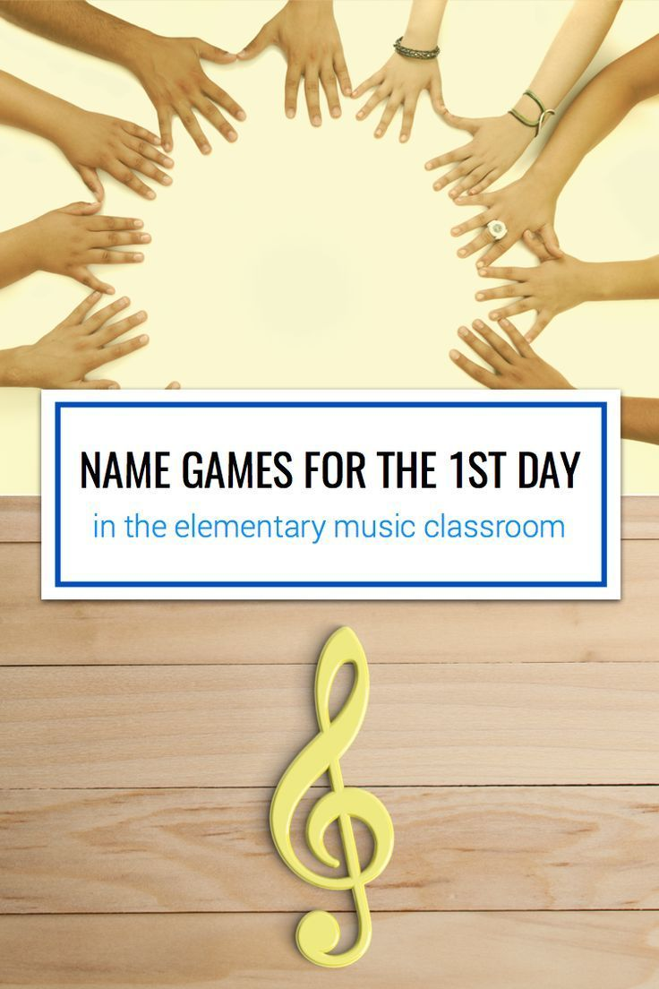 Name games for the first day in elementary music
