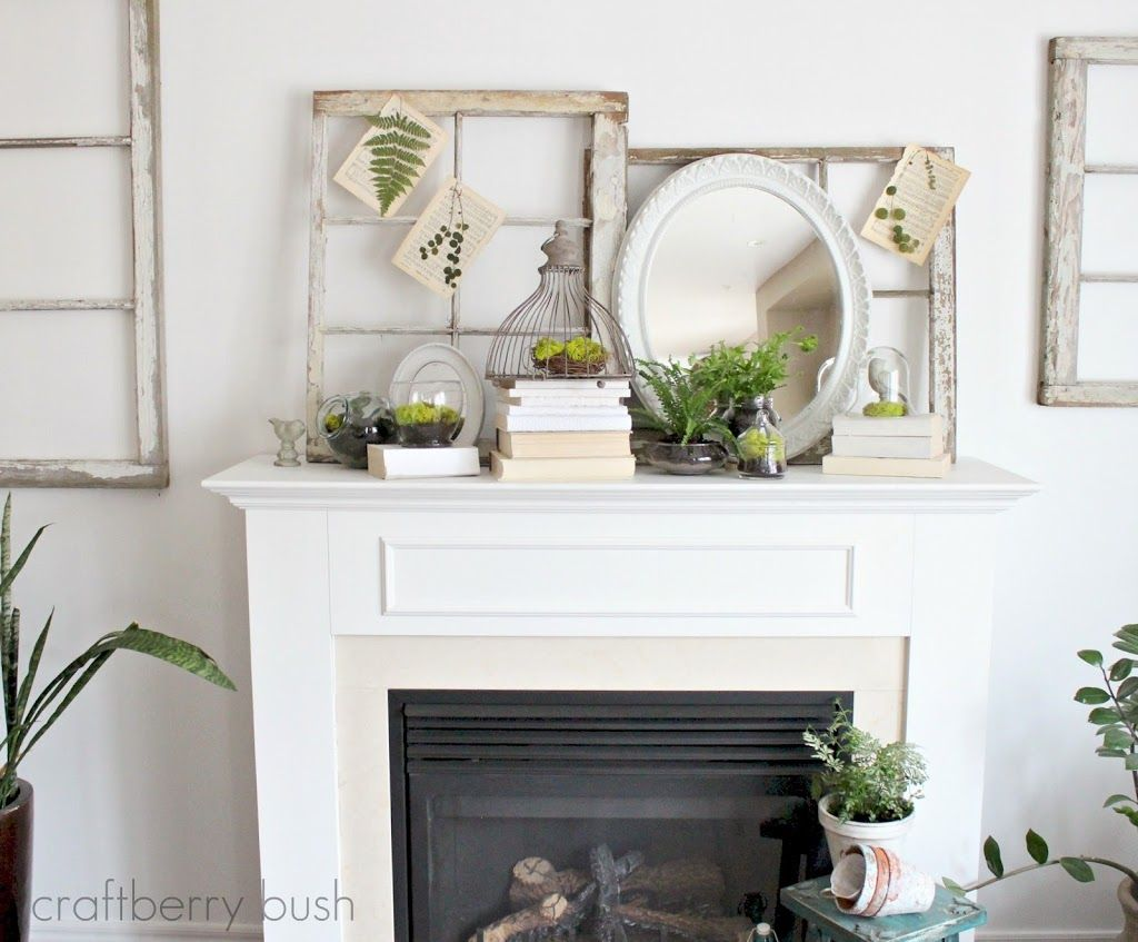 decoration white color summer party decorating ideas fireplace mantels on small space living room design exciting 32 fresh spring mantels decorations
