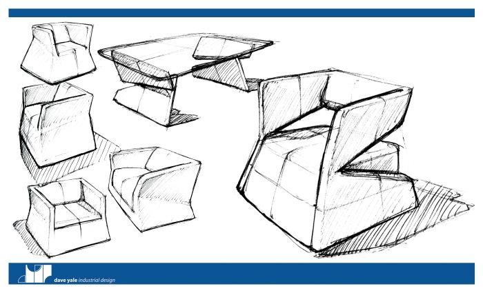 Modern Furniture Sketches furnituredave yale at coroflot | sketch + render: product