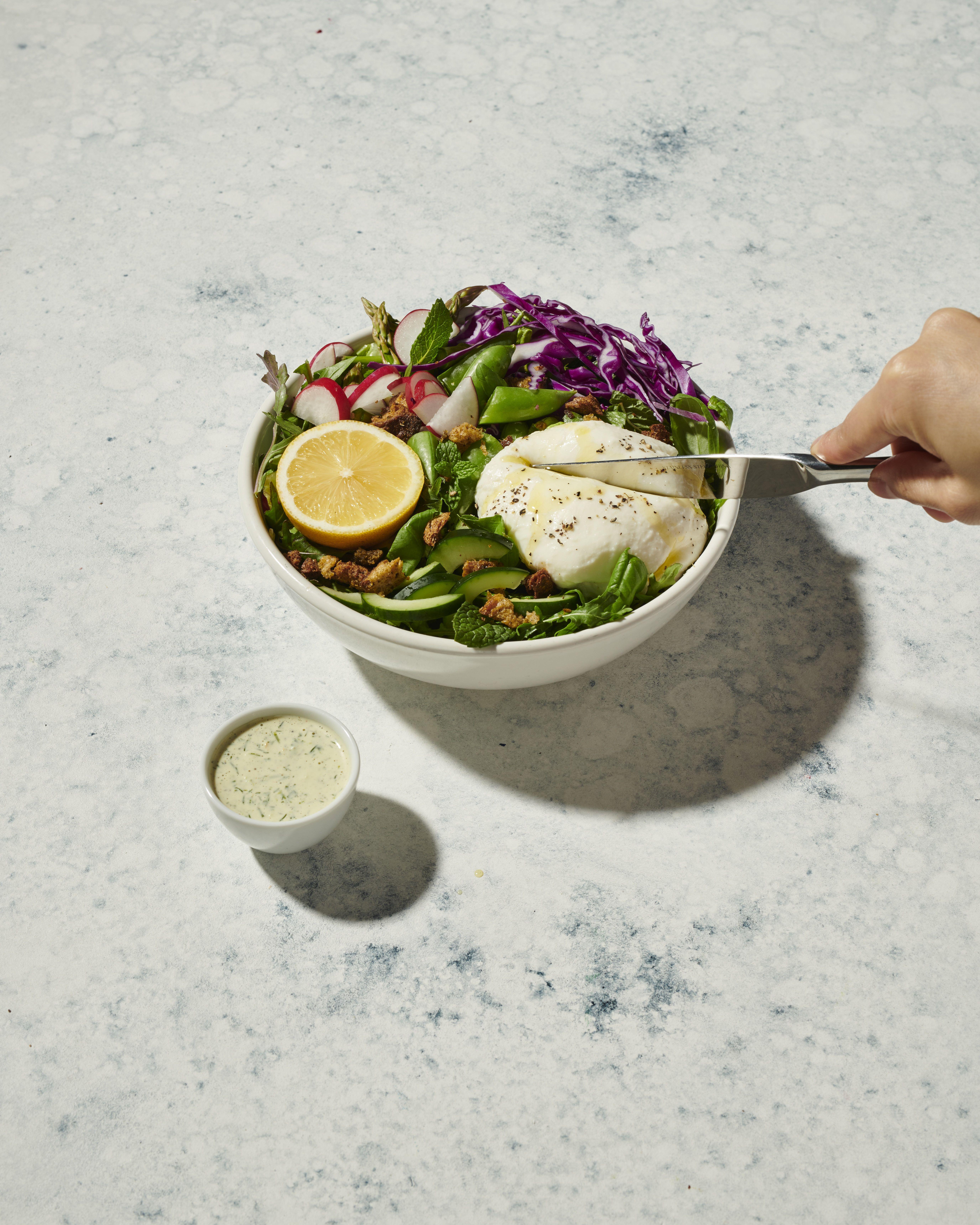Green Goddess Burrata Salad Sweetgreen Veggie Bowl Burrata Salad Green Goddess [ 6880 x 5504 Pixel ]