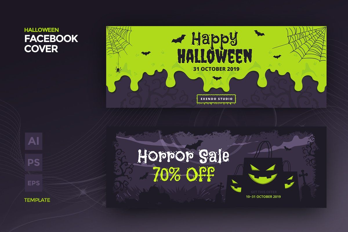 Halloween Fb Cover 2020 Halloween Facebook Cover Template in 2020 | Halloween facebook