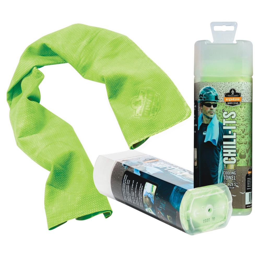 Chill Its 6602 Evaporative Cooling Towel Adult Unisex Green