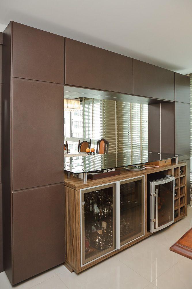 Aparador Para Sala Espelhado ~ móvel jantar com espaço para adega climatizada Salas