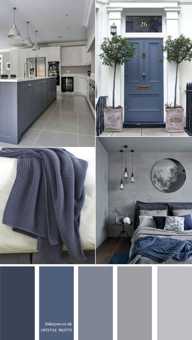 Blue grey home color decor idea { 15 House Color Palette Ideas }