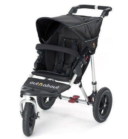 Out n About Single Nipper 360 V3 All-Terrain Baby Pushchair (Raven Black)
