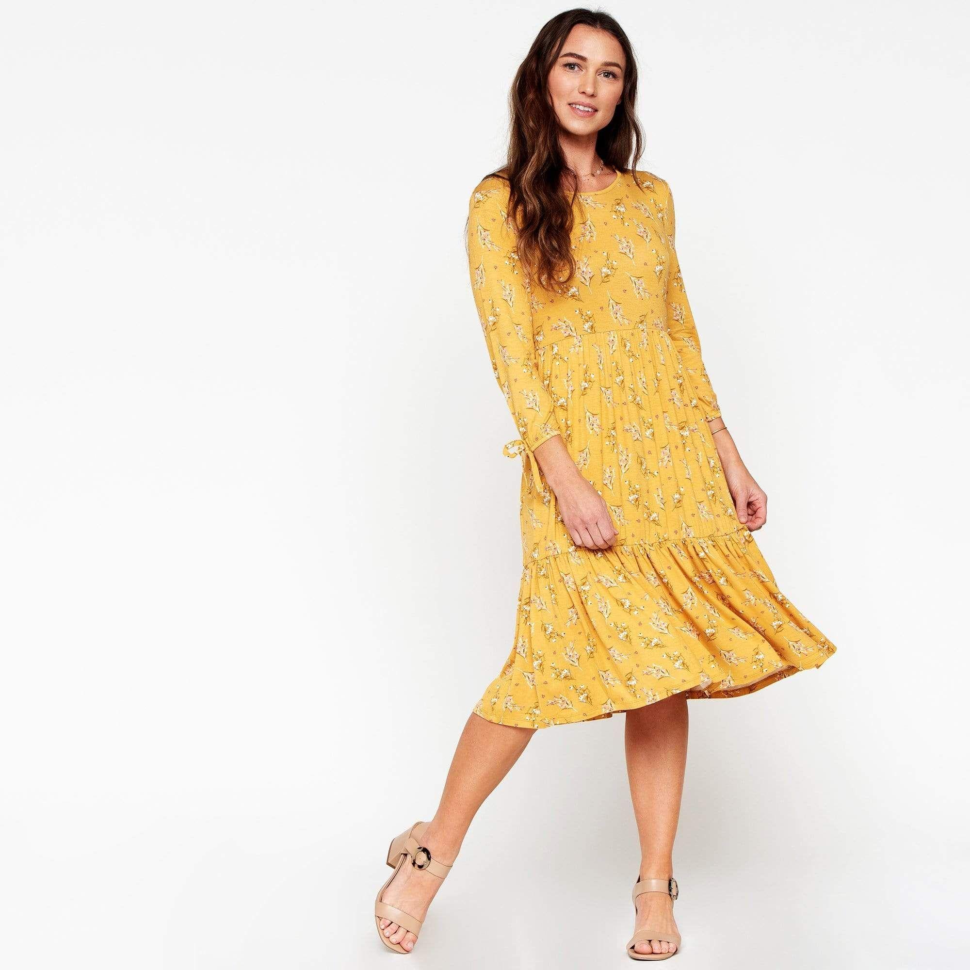 3 4 Sleeve Tiered Dress Downeast In 2020 Tiered Dress Dresses Summer Dresses [ 2000 x 2000 Pixel ]