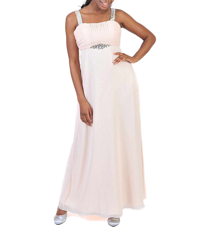 Astrapahl Damen Cocktail Kleid mit Pailletten, Maxi: Amazon.de ...