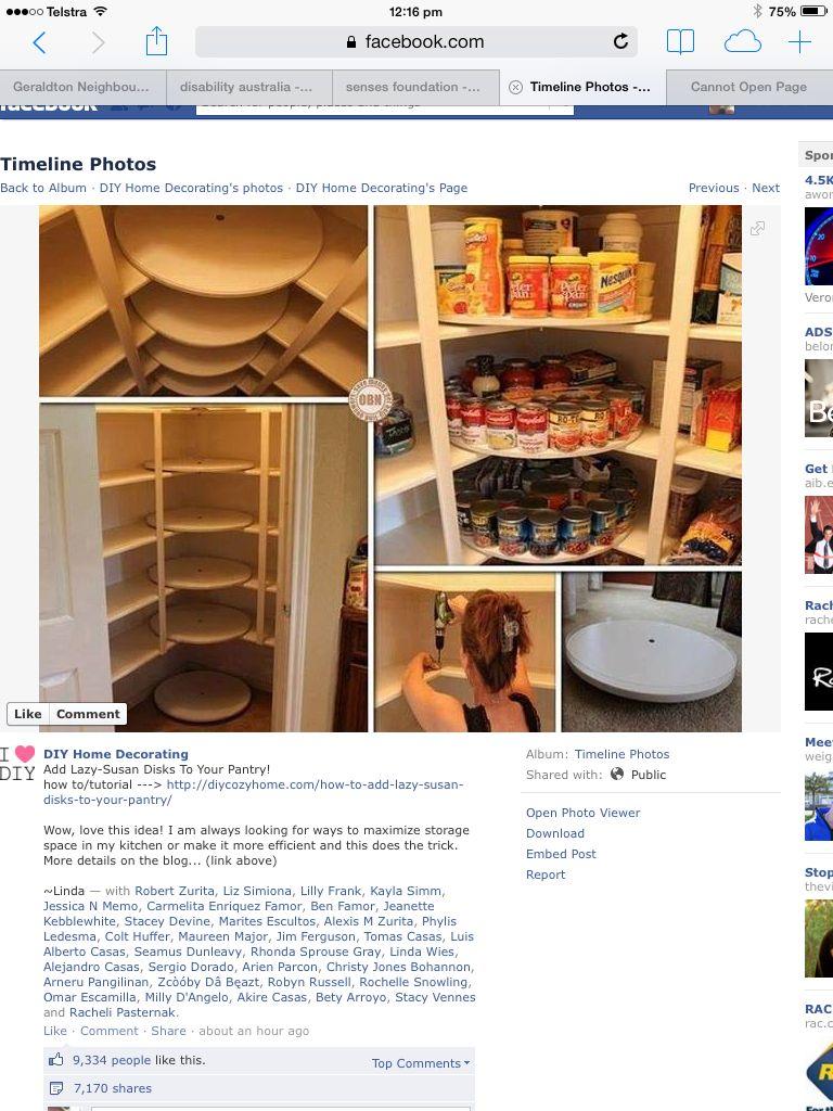 Pantry lazy susan kitchen pinterest pantry
