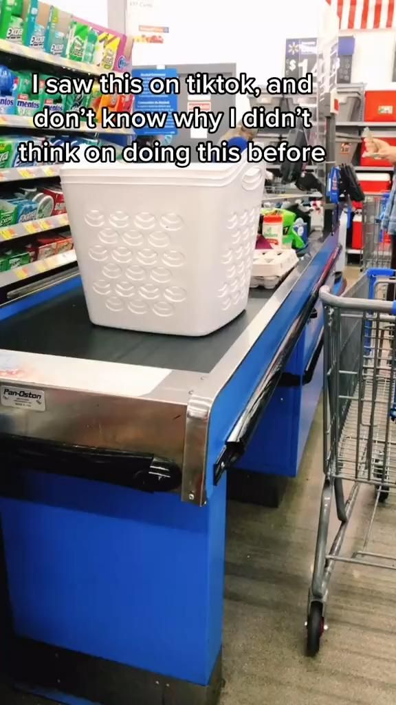 Laundry Basket for Groceries!?
