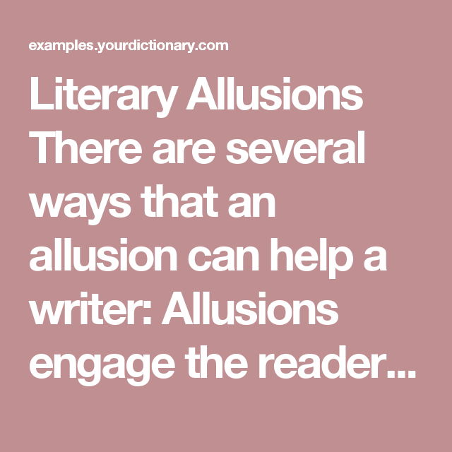 Examples Of Allusion Pinterest Literary Allusion