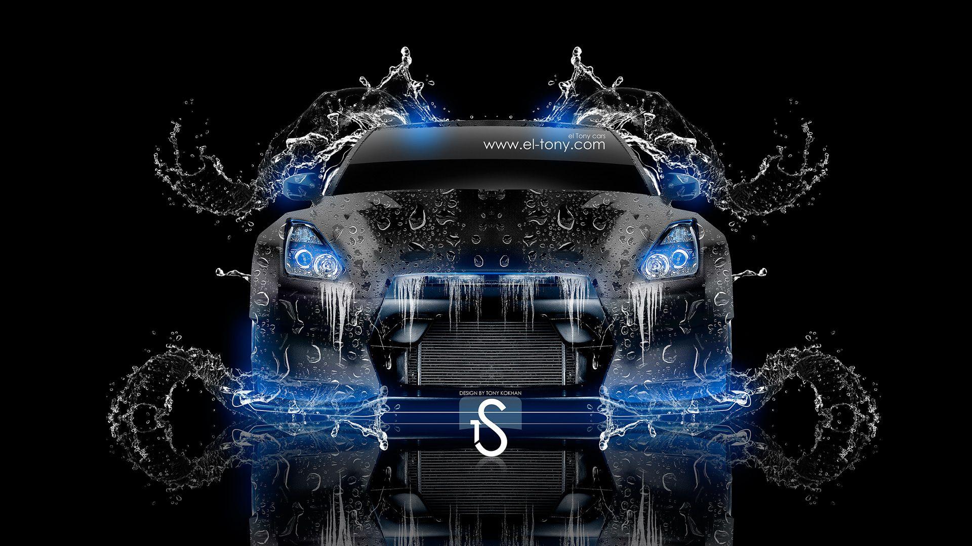Beau Nissan GTR R35 Front Water Tuning Car 2013 « El Tony
