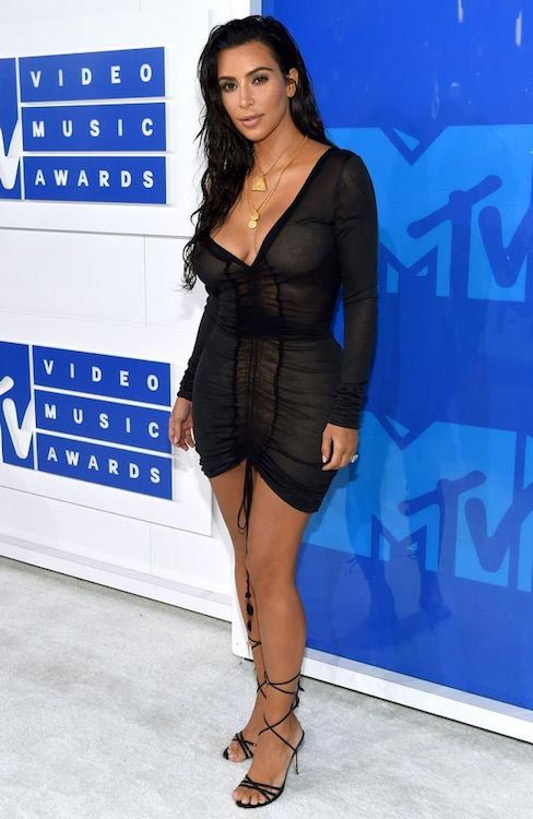 Kim Kardashian during 2016 MTV Video Music Awards...