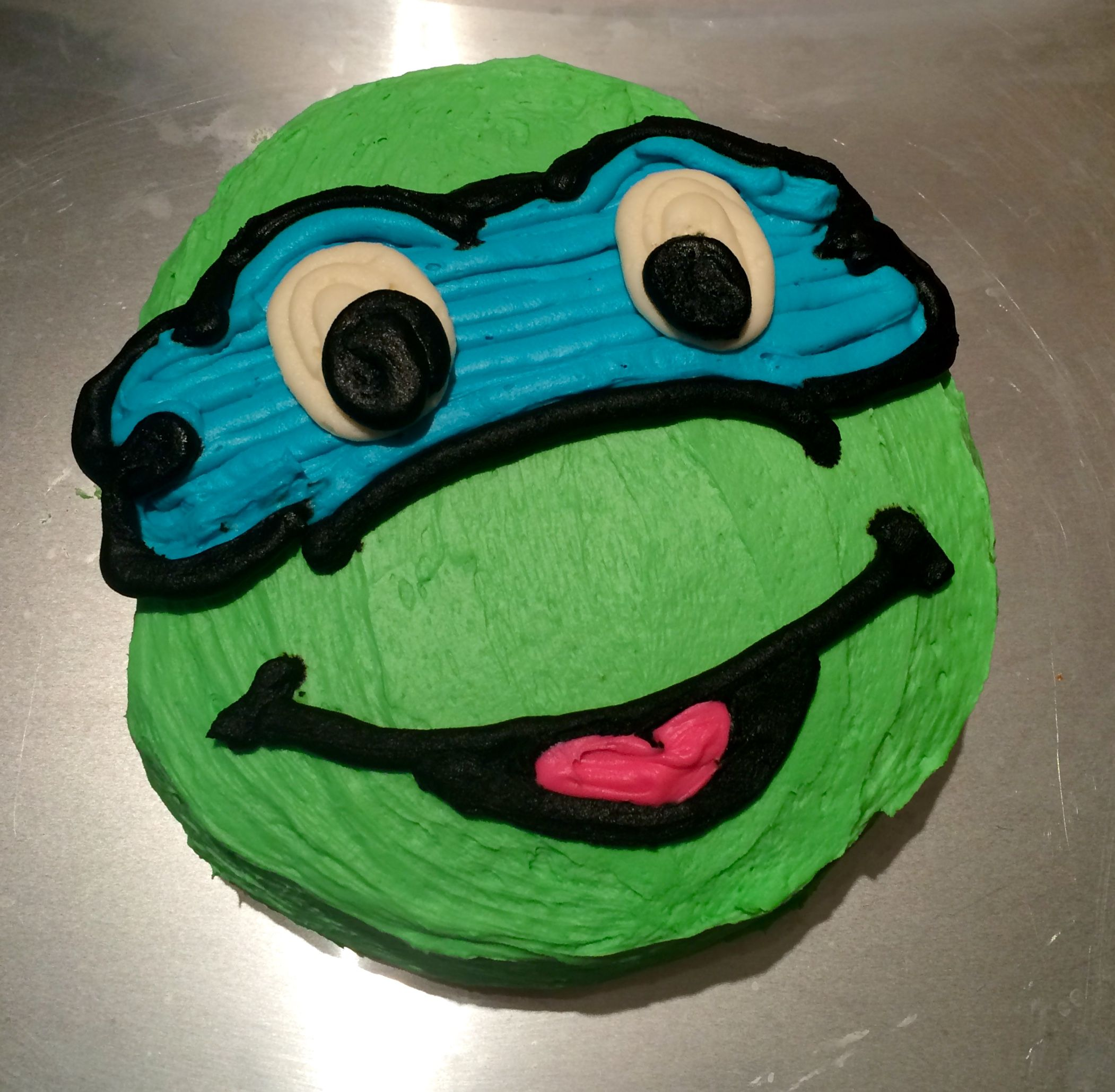 Diy Cake Homemade Cake Ninja Turtle Cake Leonardo Cake Boy