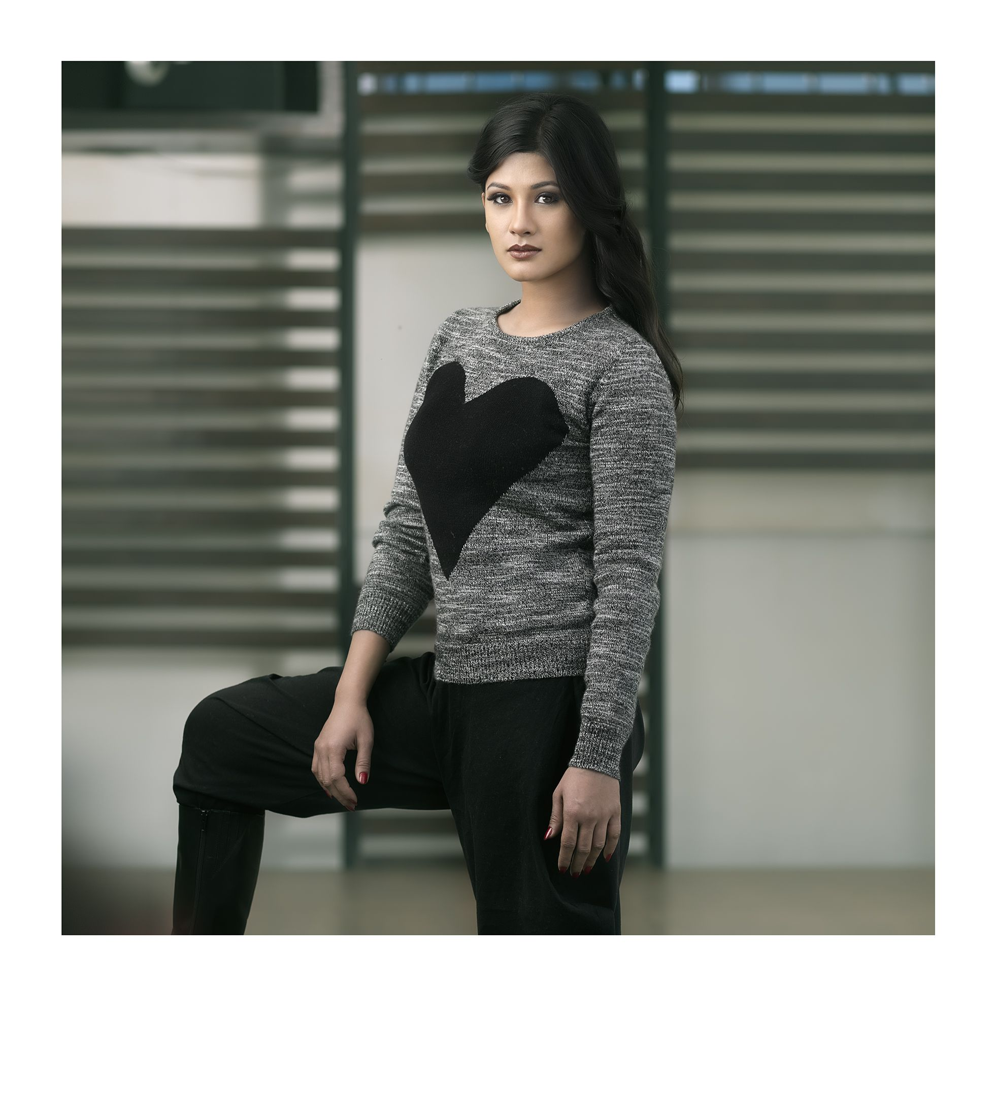 Ariana  - 100% Cashmere - Big Heart Sweater. Available in multiple colors.