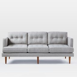 Mid Century Modern Furniture Uk turquoise tufted sofa - solid wood legs | article anton modern