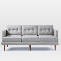 Mid Century Modern Furniture Uk turquoise tufted sofa - solid wood legs | article anton modern
