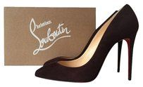 Christian Louboutin Pigalle Follies 100 100mm Wine Pumps