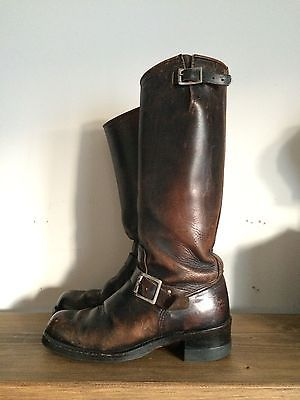 Vintage Sears Motorcycle Biker Rockabilly Engineer Boots 1950's 1960's the color/patina on these boots is just amazing(sb)