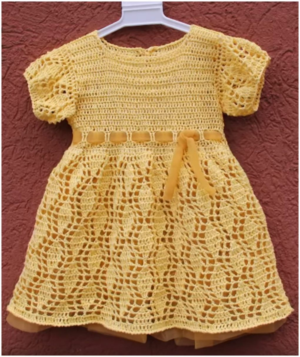 Yellow dress for girls ... what a charm ... I loved the color and ...