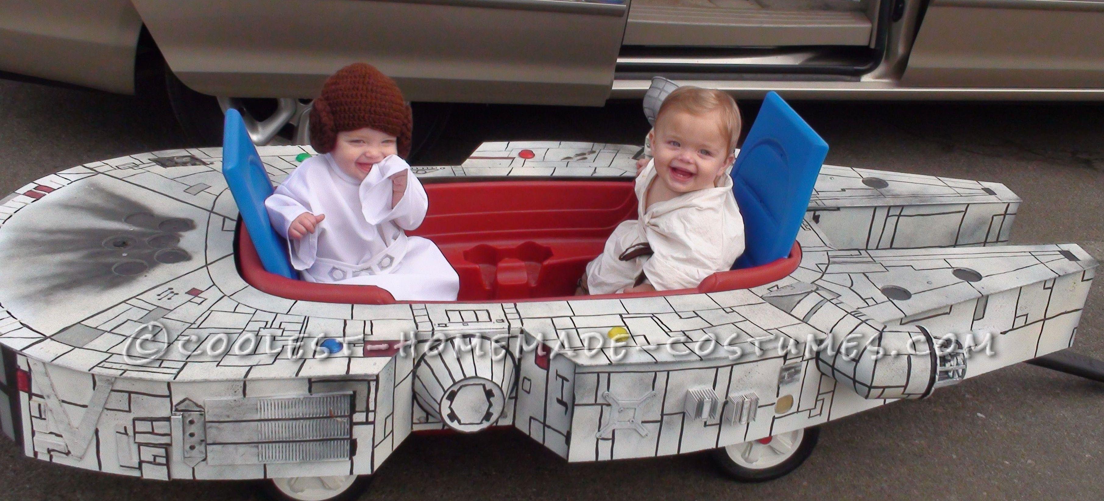 Infant Boy Girl Twins Millennium Flyer Halloween Costume
