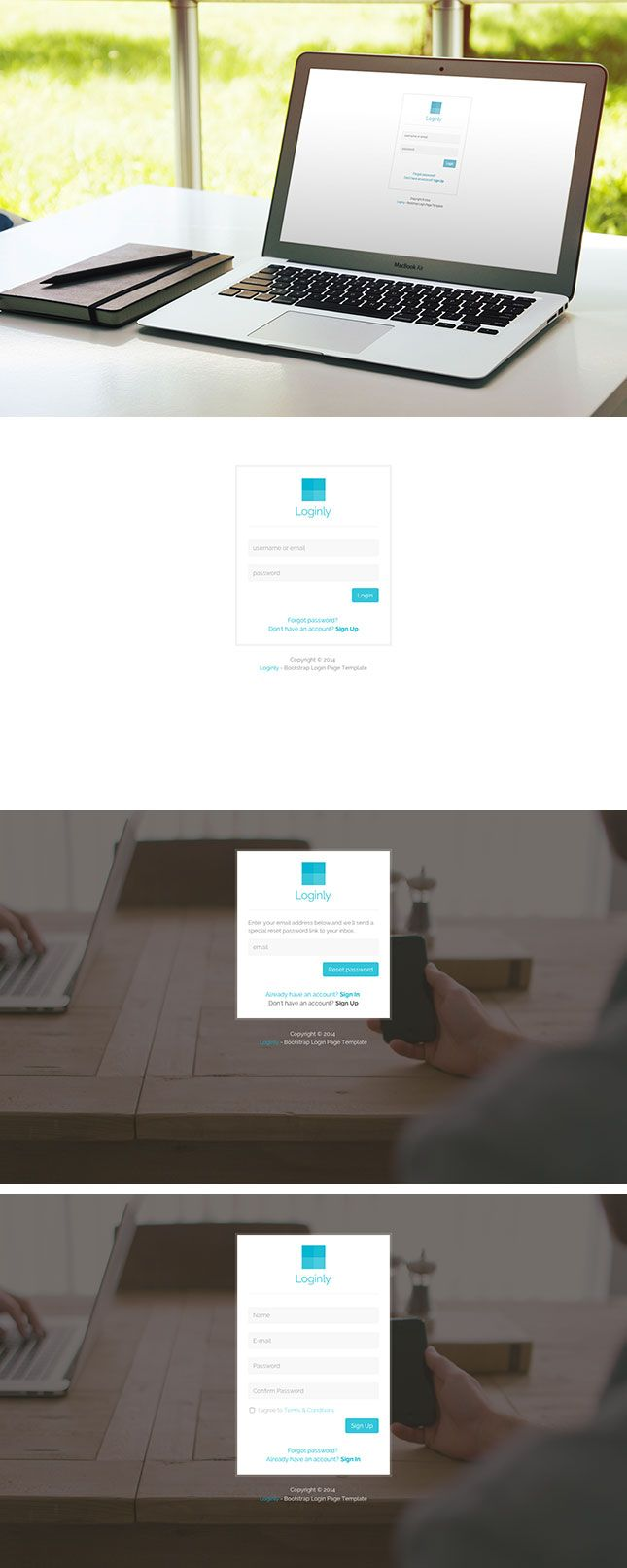 loginly free bootstrap login page template 5 form pinterest