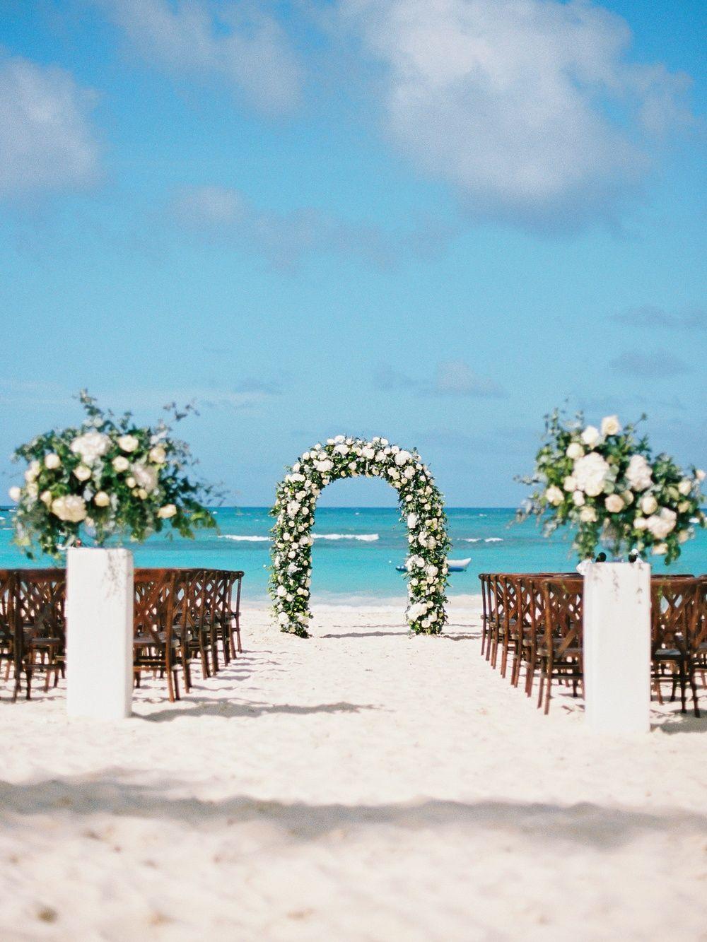Black Tie Punta Cana Destination Wedding Ruffled Beach Wedding Locations Carribean Wedding Beach Destination Wedding