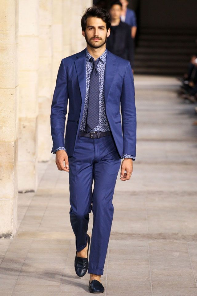 Blue suit with Printed shirt by Hermes - Stylish Nomads on Gay ...