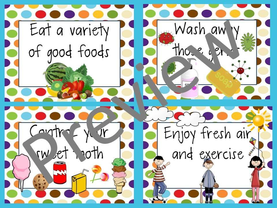 Healthy Habits Posters 1st grade activities, Healthy