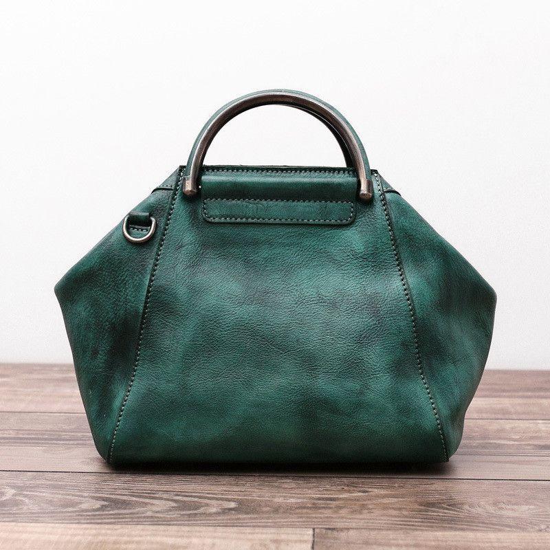 Handmade Vegetable Tanned Leather Messenger Bag, Women Shoulder Bag WF09