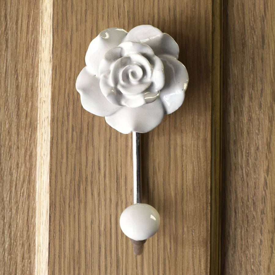 flower ceramic hallway bedroom coat hooks flower ceramic hallway bedroom coat hooks coats ceramics and - Stylish Wall Hooks