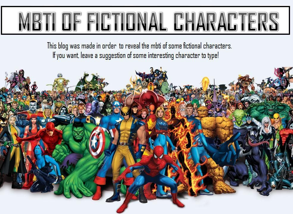 MBTI OF FICTIONAL CHARACTERS