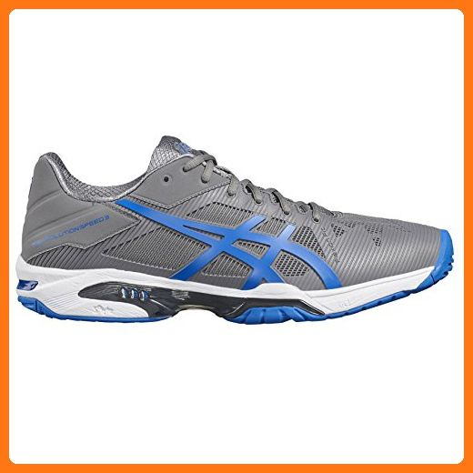 Asics Gel Solution Speed 3 Mens Tennis Shoes Color Grey Blue Us Shoe Size 11 5 Us 10 5 Uk Partner Link Tennis Shoes Mens Tennis Shoes Asics Men