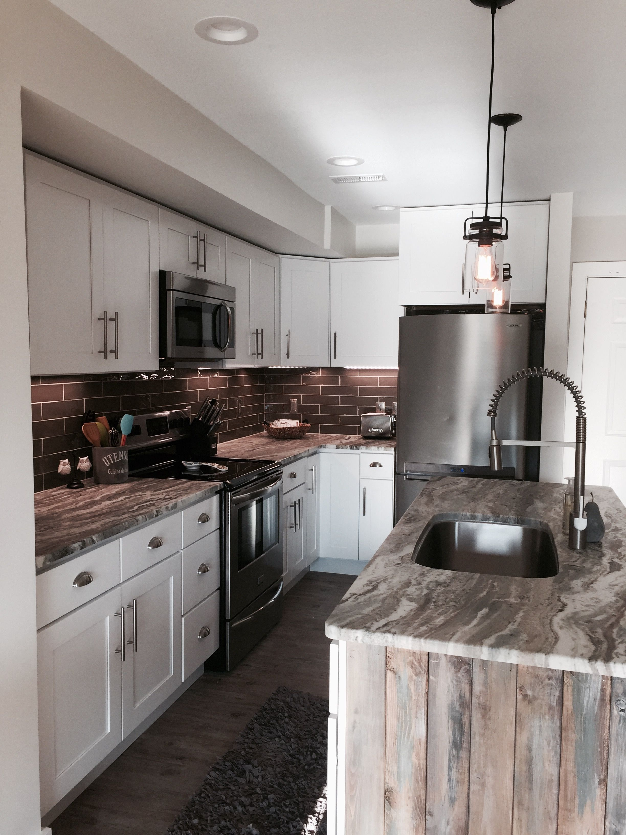 Brown fantasy leathered finish granite | Countertops ... on Kitchen Farmhouse Granite Countertops  id=71210