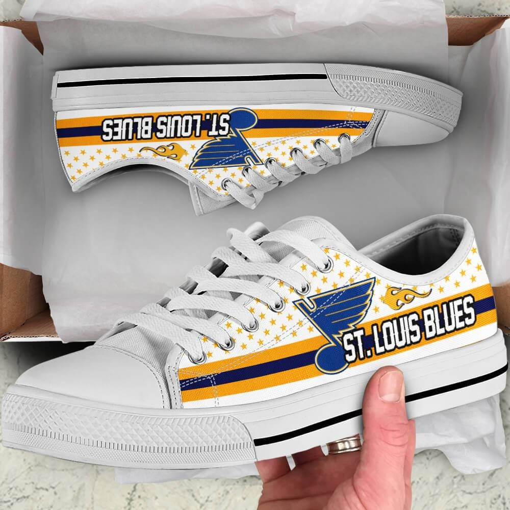 St. Louis Blues Legend Since 1967 NHL Hockey Teams White Low Top Shoes - Teeqq Store     Shipping m