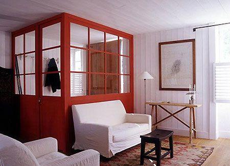 Pour s parer une porte d 39 entr e qui donne dans le salon portes vestibule amenagement maison - Porte d entree qui ferme mal ...
