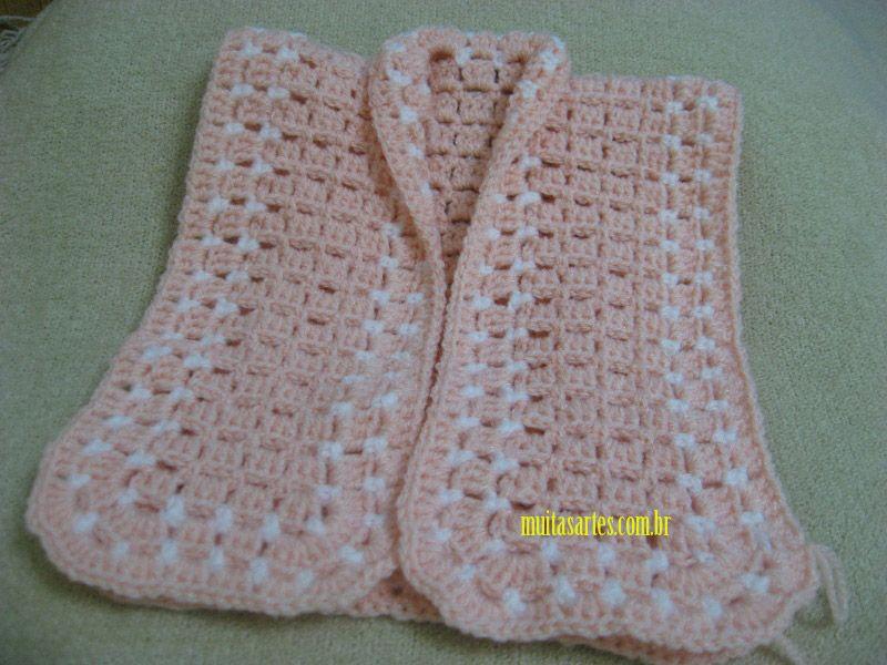 Casaquinho crochê | Baby chrochet and knittings | Casacos de