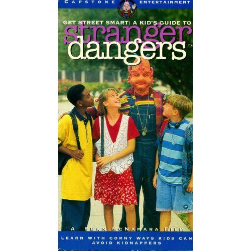 """Thrifty Film Review #24: """"Get Street Smart: A Kid's Guide to Stranger Dangers"""". http://www.thriftyfilmcritic.com/?p=83.  One of the funniest education videos ever made. It's about an alien that repeats """"Safety Day"""" for all eternity until he learns to stop getting abducted or worse. $2.5/$5"""