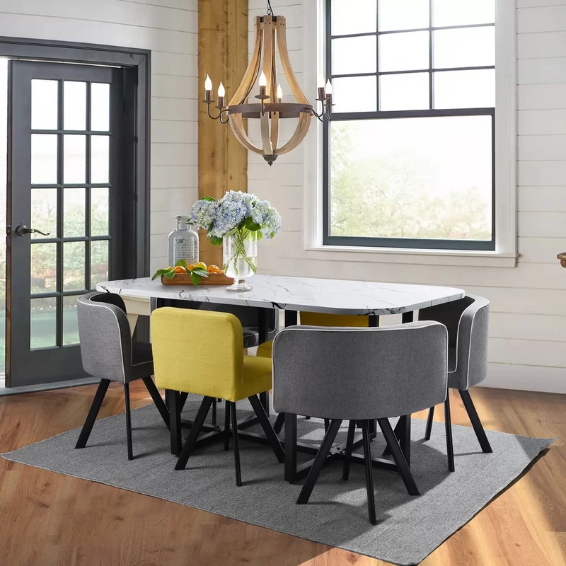 Ebern Designs Lamons 5 Piece Dining Set Reviews Wayfair Dining Table Marble Dining Sets Modern Dining Room Sets